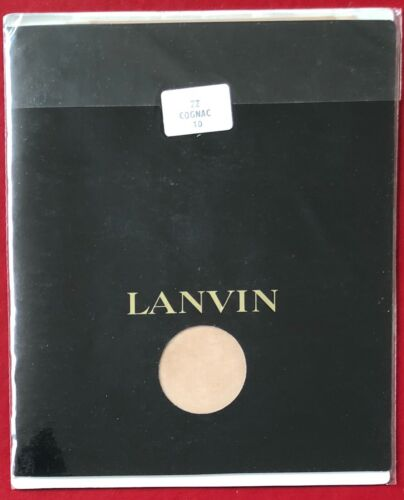Vintage Lanvin Nylon Stockings Cognac Size 10 Very Silky Sheer