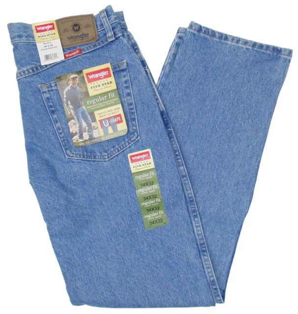 f3d3c31d Wrangler Jeans Mens Size 34 X 32 Light Stonewash Regular Fit #1303 ...