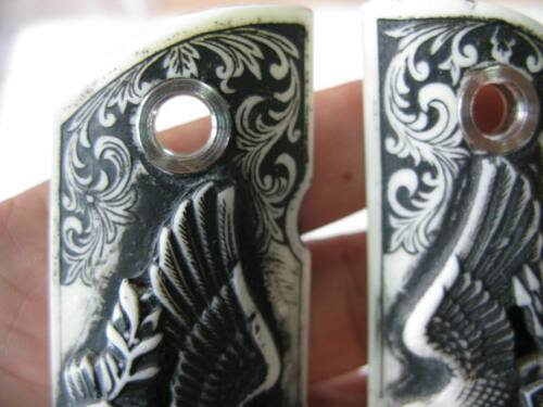 Cool Eagle Design Resin Grip For 1911 Colt Kimber Clones Springfield Metal Holes