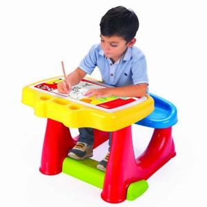 Peachy Details About Dolu Toddler Kids Art Craft Creative Study Desk Table Bench Chair Multicolour Gmtry Best Dining Table And Chair Ideas Images Gmtryco
