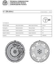 ETA 2834-2 Movemnet Cal. Communication Technical Manual Ebook Reader