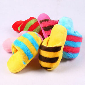 Dog-Toy-Pet-Puppy-Chew-Squeaky-Squeaker-Sound-Plush-Slipper-Shape-Toys-Brand-New