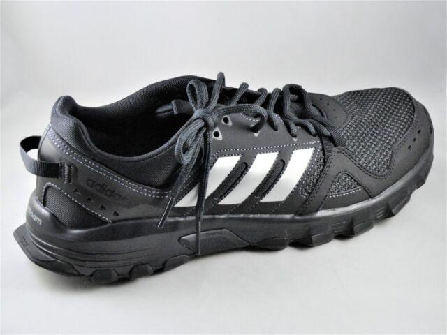 0b66933601a7 Mens Adidas Rockadia Trail Black Sport Athletic Running Shoes CG3982 Choose  size