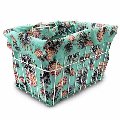 BICYCLE BASKET LINER GREEN DAISY CRUISER BIKES