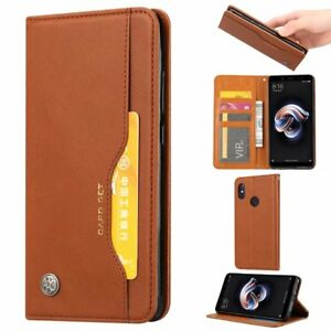 online store 2f3f7 53b06 Details about Retro Magnetic Flip Leather Wallet Case Stand Cover For  Huawei Nova 3i/P Smart+