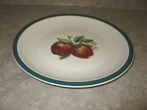 CASUALS-BY-CHINA-PEARL-RED-APPLE-BLOSSOM-PLATTER-12-ROUND-SERVING-PLATE