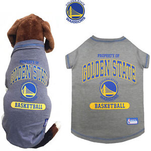 pretty nice 3c46a ebf27 Details about NBA Fan Gear GOLDEN STATE WARRIORS Dog Shirt Tee for Dog Dogs  Puppy