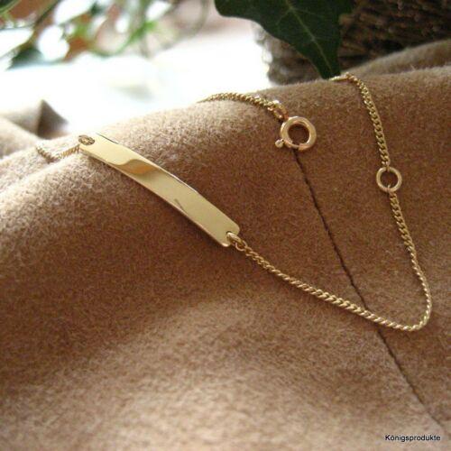 Gravur Schildarmband GA-13 333 Gelbgold ID Armband Kinderarmband Babyarmband