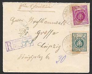 Poland covers 1925 R-cover DABROWAK MOGILNA to Leipzig