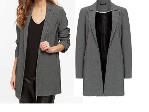 Womens Ladies Wallis Blazer Jacket Longline Boyfriend Black Party Office Size