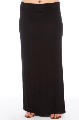 Stretch Maxi Xs22074 comoda Basic Womens Plus Long Skirt versatile e T6Pn8zq