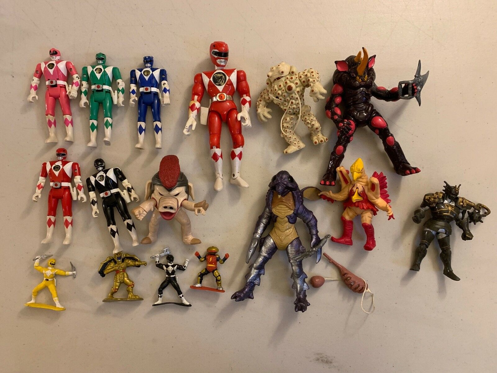 MIGHTY MORPHIN POWER RANGERS LOT OF 17 LOOSE ACTION FIGURES VINTAGE TOYS
