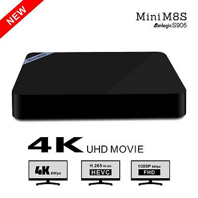New Mini M8S TV Box Amlogic S905 Android 5.1 Quad-core 2.4GHz WiFi B 4.0 2G+8G
