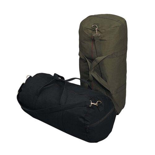 """24/"""" X 12/"""" Rothco 2224 24/'/' Canvas Shoulder Bag Black Or Olive"""