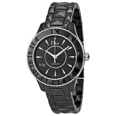Christian Dior VIII Automatic Black Ceramic Ladies Watch CD1245E0C001