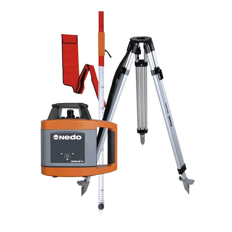 Nedo Rotationslaser Sirius1 H Set LK2 Baulaser + Stativ + Flexilatte Laser Bau