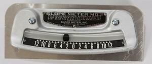 Slope Meter No. 2 work on motor graders, asphalt pavers, wheel ditches Etc.