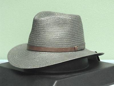 BLACK CREEK BC9019 TOYO STRAW FEDORA HAT