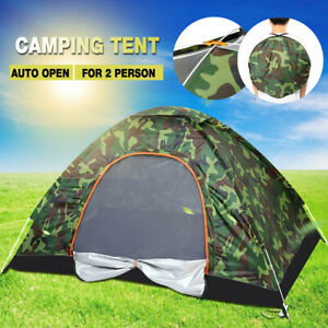 Camping-Waterproof-Outdoor-2-Person-Folding-Tent-Camouflage-Hiking-4-Season-US