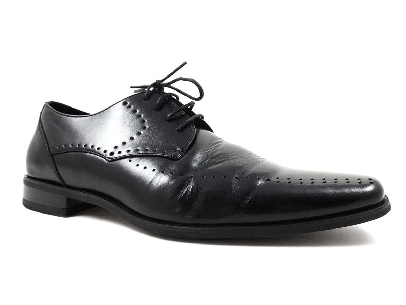 Stacy Adams Men's Black Shoes, ATWELL Perforated Oxfords Black Men's Leather 11 M MSRP $85 d7504e