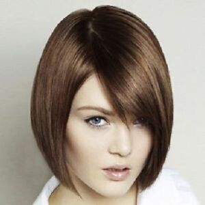 Details about 100% Real Hair! Bob Style Straight