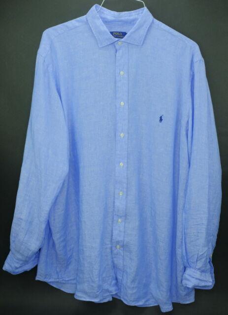 Nwt Polo 2xlt 2xt Men's Blue New Ls Ralph Size Lauren Light 100Linen Shirt N0nX8wOPk