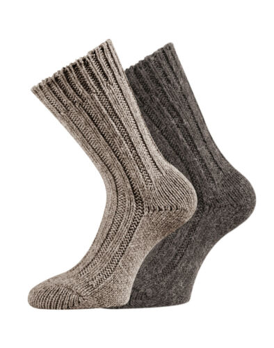 Alpaka Socken Wollsocken Alpakawolle weiche warme Socken Kuschelsocken 2 Paar