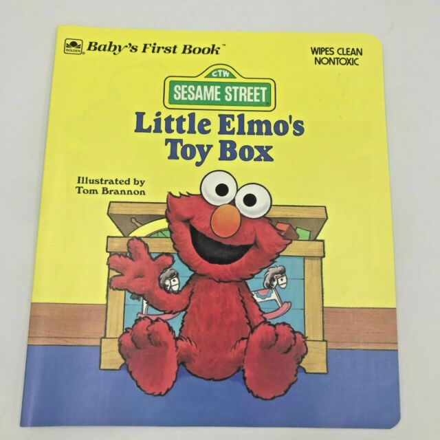 Little Elmo's Toy Box Baby's First Book Wipes Clean Vintage 1990 Paperback BK18