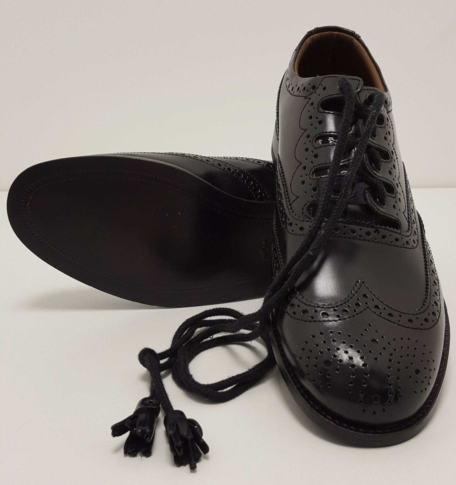 Scottish Ghillie Leather Kilt HOUR Brogues Zapatos