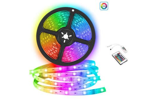 TELECOMANDO 150 LED STRISCIA A LED SMD 5050 RGB 5 METRI BOBINA CON ALIMENTATORE