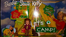 2001 LET'S CAMP GIFT - BARBIE, STACIE & KELLY - MNRFB