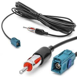 Antennen-Adapter-FAKRA-Buchse-F-auf-DIN-Stecker-M-150-Ohm-5-5-Meter-Kabel