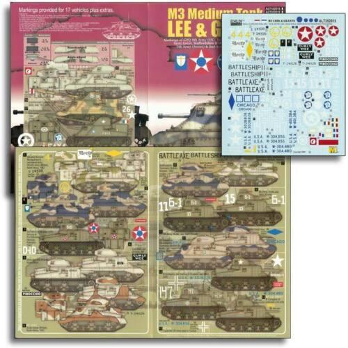 North Africa /& Europe Echelon ALT352015 1//35 M3 Medium Tank Lee /& Grant