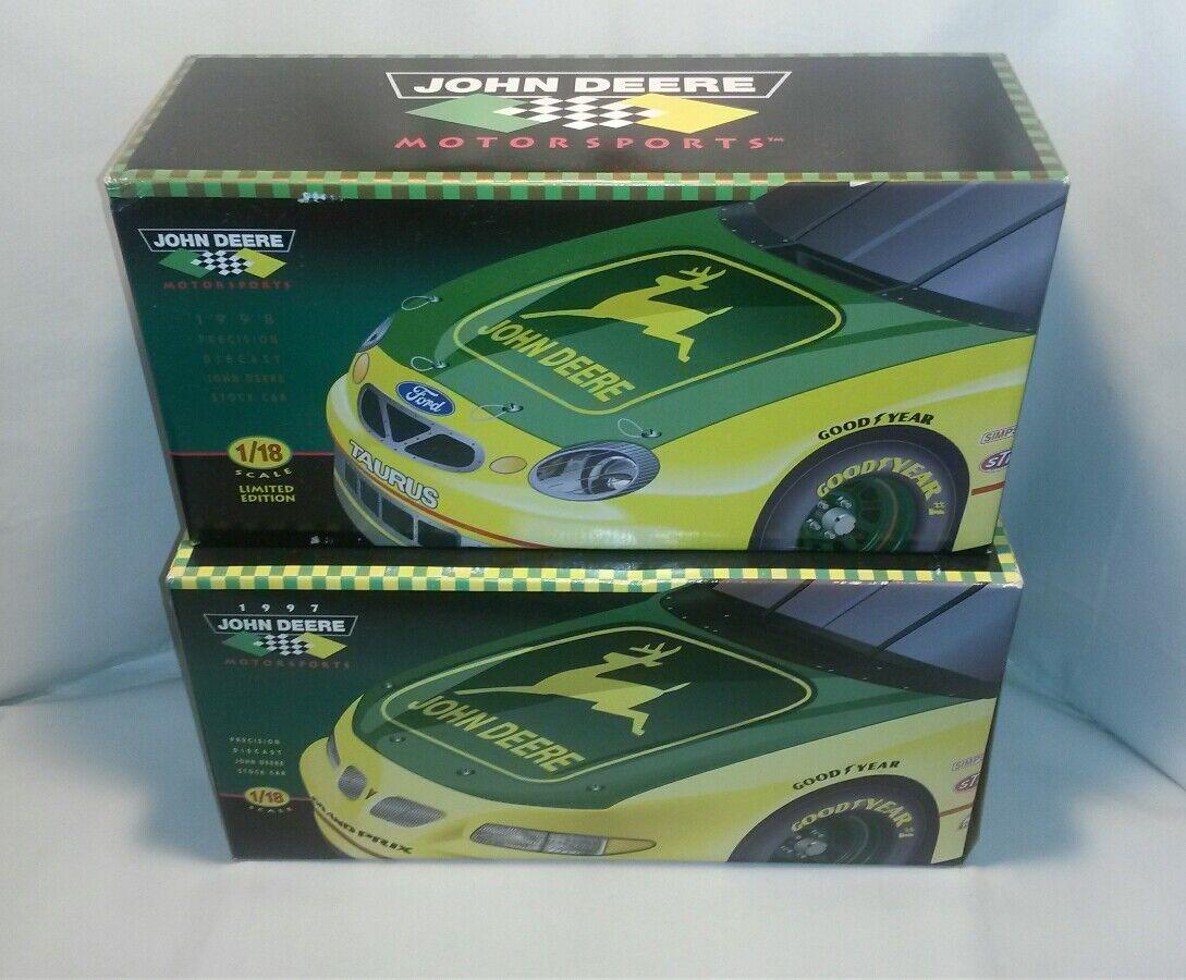 Lote 2 1 18 JOHN DEERE NASCAR Chad poco Pontiac Grand Prix & Taurus Ertl
