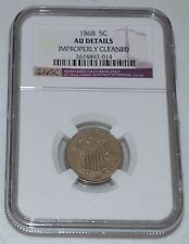 1868 5C Shield Nickel