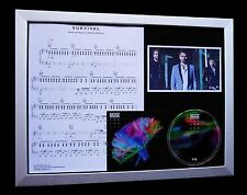 MUSE Survival LIMITED CD QUALITY MUSIC FRAMED DISPLAY+FAST GLOBAL SHIP+2nd LAW
