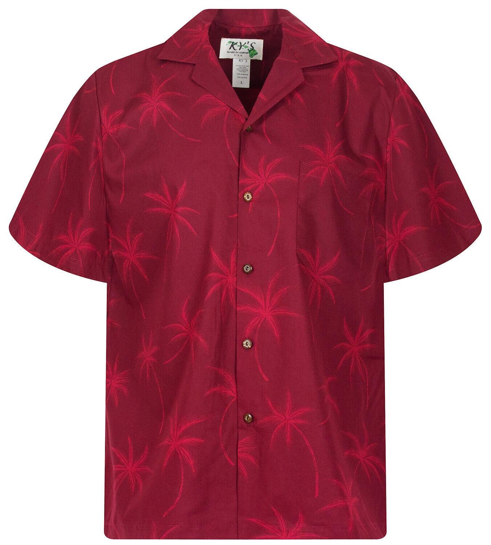 KY's Original Hawaiihemd Palmshadow red