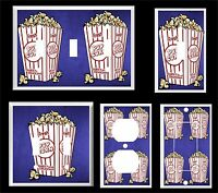 Movie Popcorn Home Theater 8 Light Switch Cover Plate