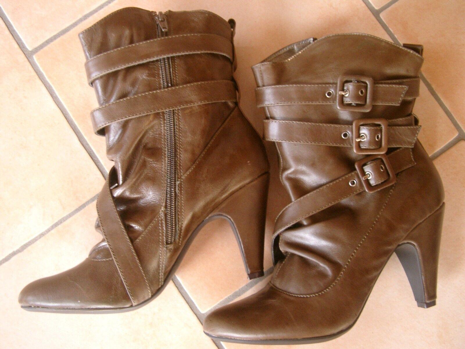 (Z18) Pepe Lederschuhe Jeans Damen Schuh Stiefelette Stiefel Lederschuhe Pepe mit Schnallen gr.40 111081