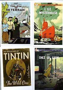 Carte-Postale-Tintin-Lot-de-8-cartes-les-aventures-imaginaires-de-Tintin-Serie-2