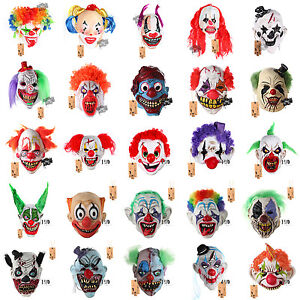 H-amp-D-Scary-Latex-Horror-Clown-Halloween-Mask-Masquerade-Party-Costumes-Dress