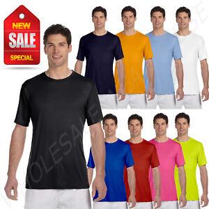 f6f1836a Hanes Men's 4 oz Short Sleeves 100% Polyester Cool Dri BIG SIZE T ...