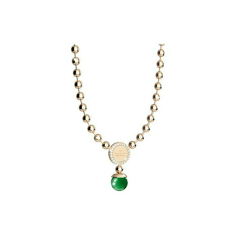 COLLANA SWAROVSKI green BRONZO yellow  REBECCA BOULEVARD BHBKOS02