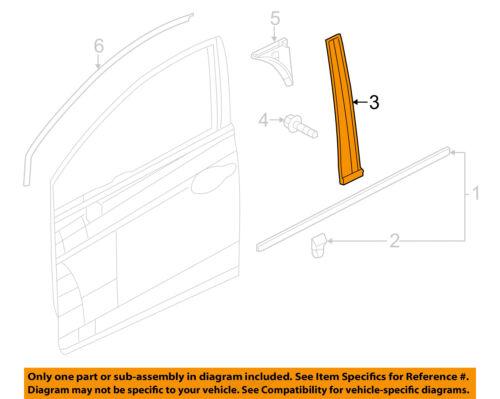 HONDA OEM 12-15 Civic Front Door-Pillar Molding Right 72430TR3A01