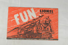 "1947 Lionel ""Fun With Lionel Model Railroading""  8 1/2"" x 5 3/8"" Excellent"