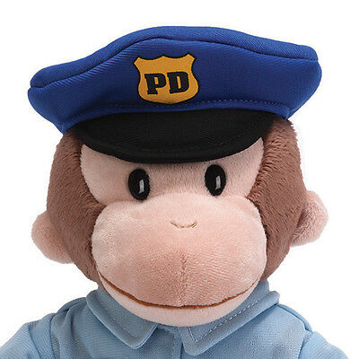 "RETIRED GUND MONKEY - 12"" CURIOUS GEORGE  -  POLICEMAN - POLICE - NWT"