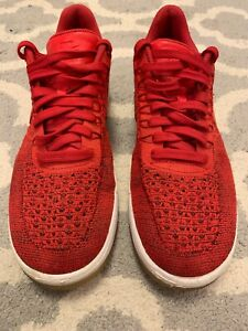 new product 71019 00fc7 Details about NIKE AIR FORCE 1 AF1 ULTRA FLYKNIT LOW PREMIUM GYM RED WHITE  826577-600 11.5 D2