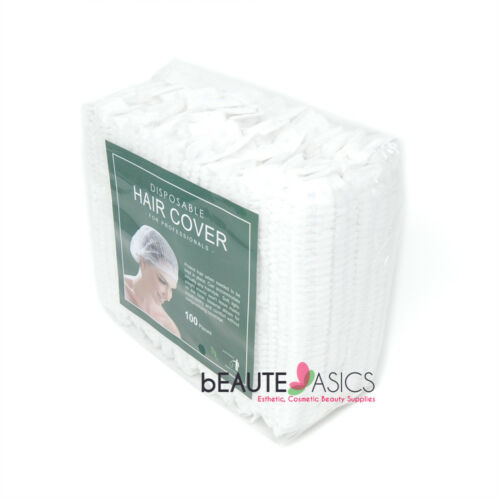100 Disposable Facial Bouffant Caps Hair Covers Compressed #AH1050 x1