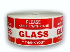 Please Glass Handling Care Shipping Caution Stickers 2x3 1000 Labels