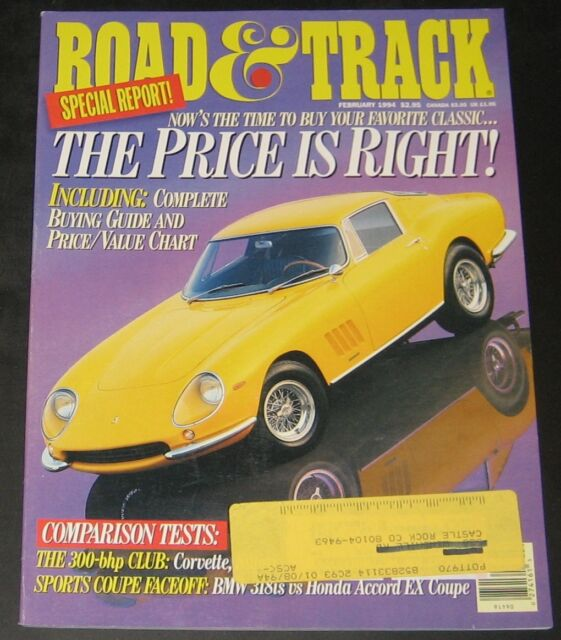 Road & Track Magazine February 1994-Classic Buying Guide